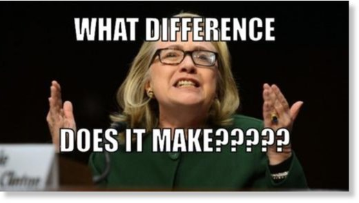 Clinton What difference does it make?