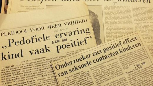Dutch newspaper articles promoting pedophilia