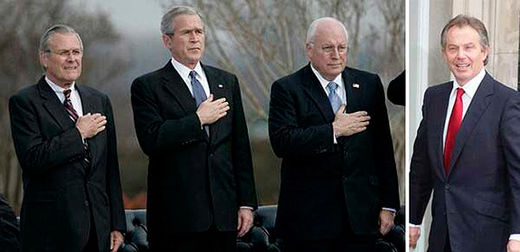 Bush Cheney Rumsfeld Blair