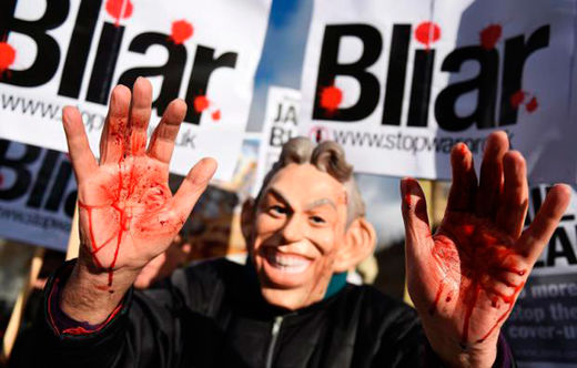 Tony Blair protest