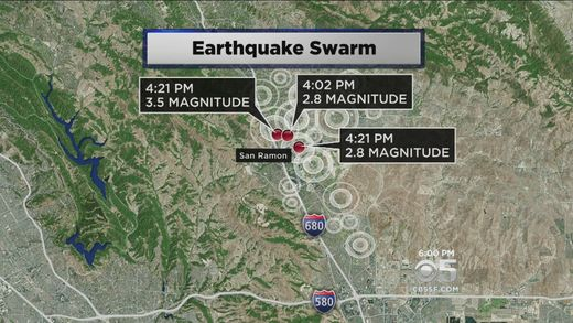 San Ramon area earthquake swarm