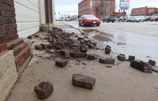 Oklahoma earthquake damage