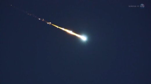 A bolide or exploding meteor