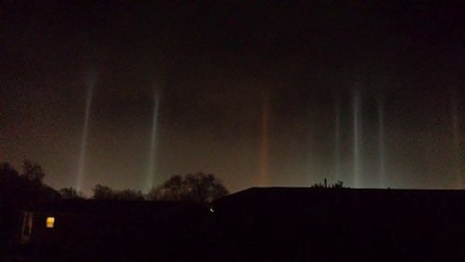 Light pillars Indiana