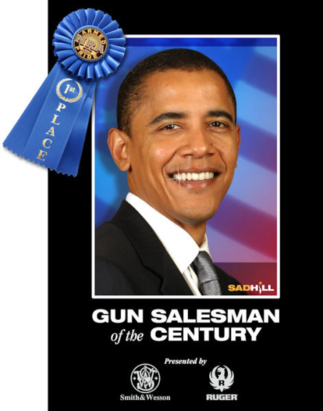 #1 gun salesman Obama