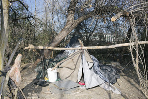 Homeless camp in Utah