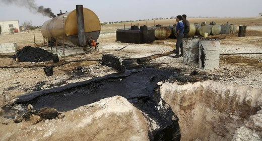 Syrian oil facility bombed