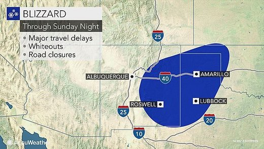 Blizzard map thru Sunday
