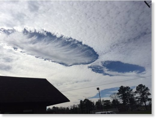 Hole punch clouds in Tuscaloosa, AL