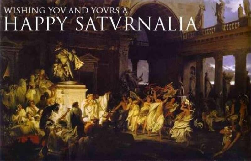 Io Saturnalia! The Roman roots of 'Christmas' -- Secret History ...