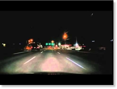 Meteor fireball filmed over Tulsa, Oklahoma -- Fire in the