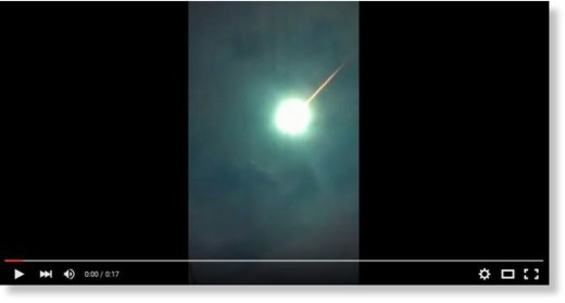Huge meteor fireball over Argentina