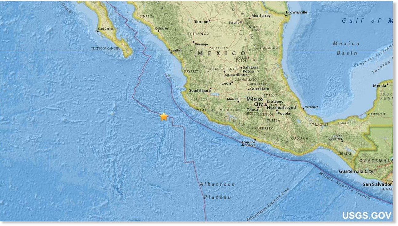 Earthquakes In Mexico >> 6.6 magnitude earthquake strikes off Jalisco, Mexico -- Earth Changes -- Sott.net