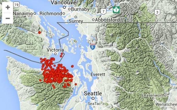 Earthquake Vancouver Island December