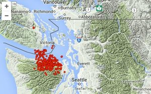 earthquakes pacific northwest