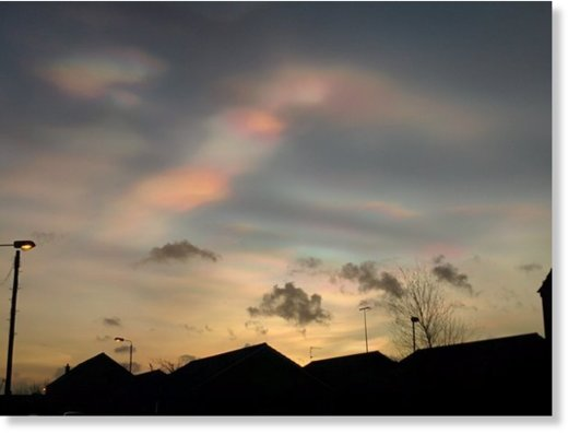rainbow clouds this morning over York road/M2 Belfast