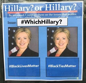 #whichhillary hillary clinton twitter censored hashtag