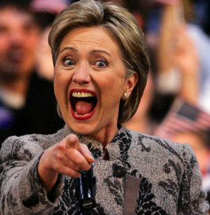 hillary clinton crazy face