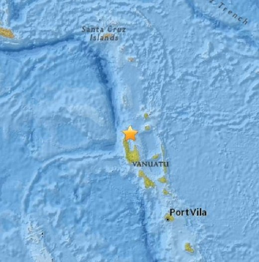 7.2 magnitude quake strikes off Vanuatu islands