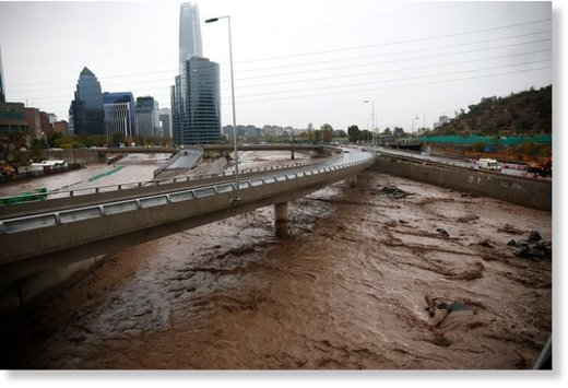 Floods in Santiago