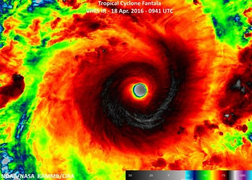 Cyclone Fantala: Indian Ocean's most powerful storm on record