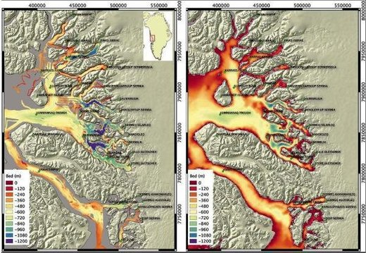 New maps chart mantle plumes melting Greenland glaciers