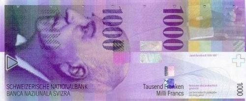 CHF 1000 note