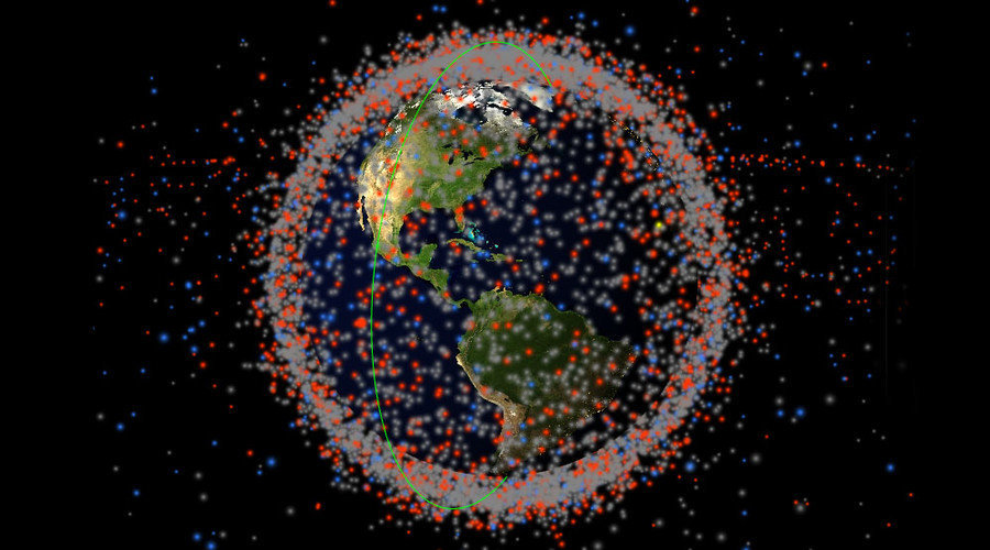 real time 3d map of every object in earth s orbit shows shocking