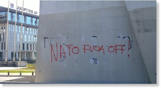 Anti-NATO grafitti