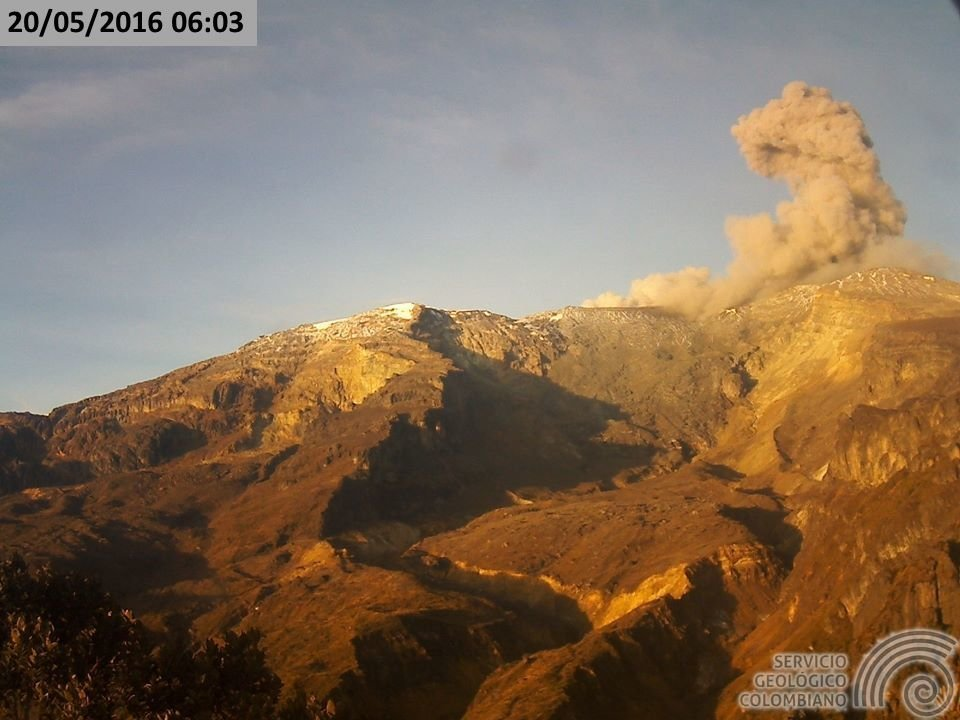the volcanic eruption of nevado del
