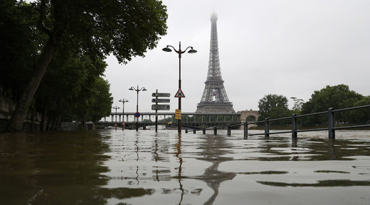 Flooded river Seine