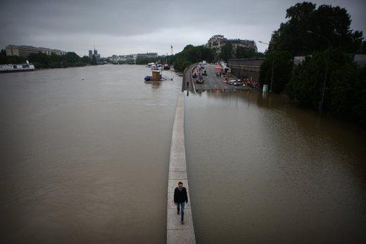 flooded banks of the Seine