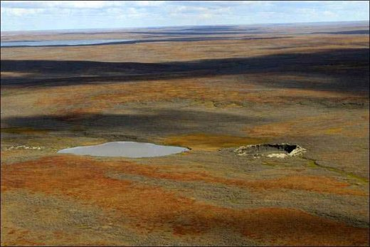 crater hole in Siberia
