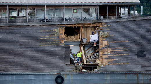 replica of Noah's Ark was severely damaged