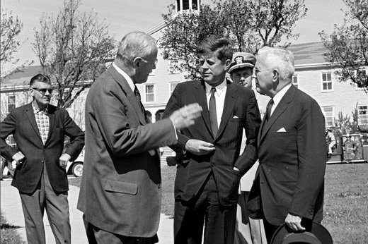 President John F. Kennedy with CIA Director Allen Dulles and Director-designate John McCone