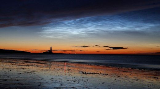 Whitley Bay noctilucent clouds