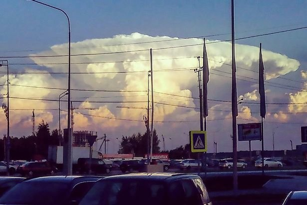 'Chernobyl Sky': Nuclear blast-style cloud appears over ...