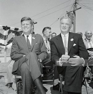 Senator Symington with JFK, who was adamantly against a nuclear Israel.
