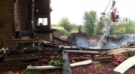 Illinois home flattened, owners hospitalized after overnight 'explosion'