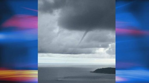 Waterspout over Lake Superior