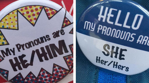 Ridiculous: What's your preferred pronoun? Gender non-conformist students adopt new badge of courage