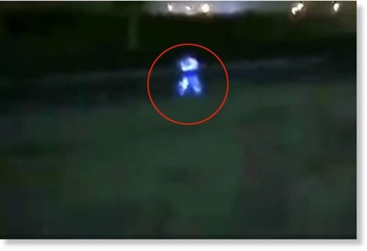 Anthony Choy claims he chased a strange blue humanoid across a motorway in Peru