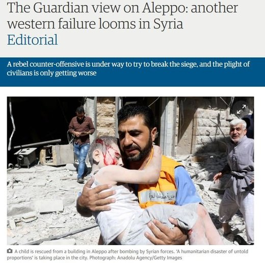 The Guardian view on Aleppo: More Western lies about Syria