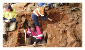 Excavating at the Murujuga rock