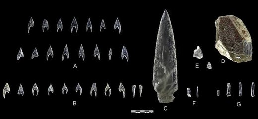 Knapped Crystal artifacts from Spain. Crystal_weapons