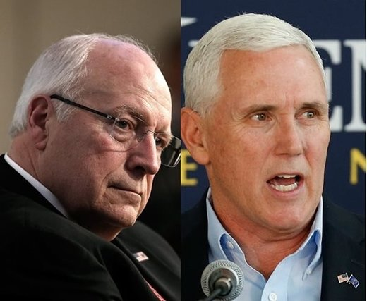 Mike Pence, dickhead cheney