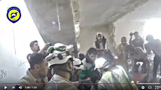 Screenshot from one of the multitude of NATO's White Helmets