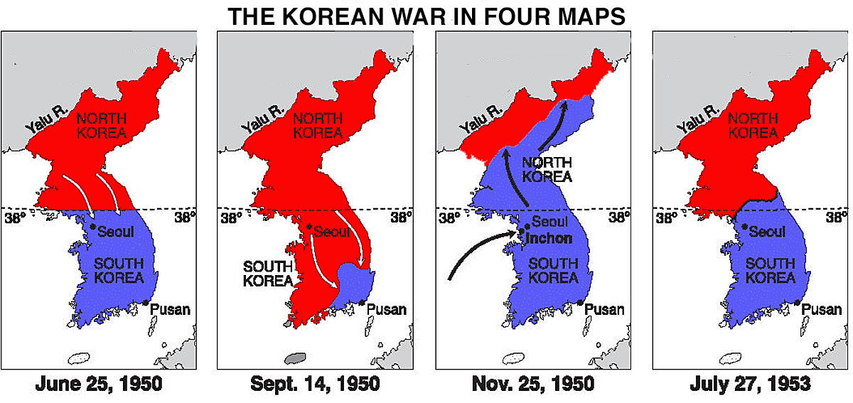 a history of the origins of the korean war 1950-1953 korean war a half civil war half proxy war held between the cold war powers of the soviet union (aligned with north korea) and the united states (aligned with south korea) that kills 2,000,000 korean civilians (mostly from the north) the chinese (fighting for north korea) and south korean soldier death tolls reach around 1 million.