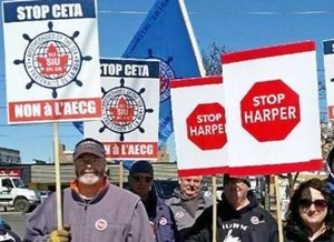Protesty marynarzy w St. Catharines, Kanada