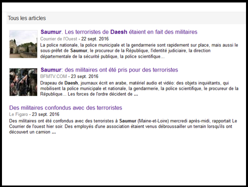 Tylko trzy artykuły pojawiają się w wyszukiwarce wiadomości Google. Niemal kompletne przemilczenie tego niecodziennego przecież tematu przez główne francuskie media jest bardzo dziwne.